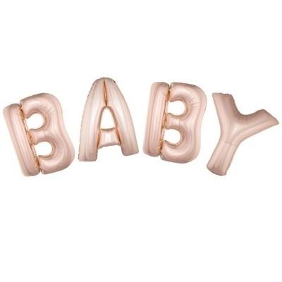 Foliové balónky Baby - růžové 102cm