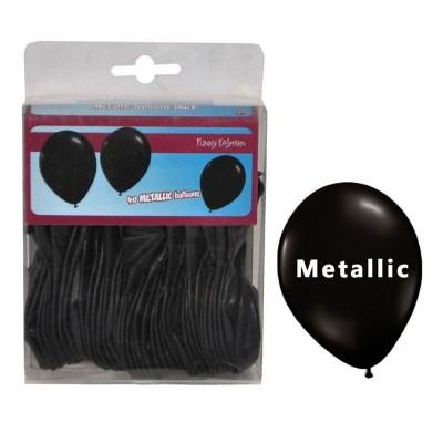 Balónky metalické černé - 40ks