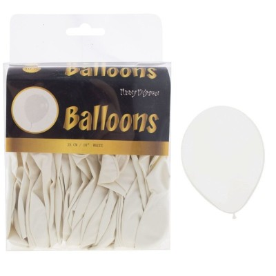Balónky bílé - 40ks