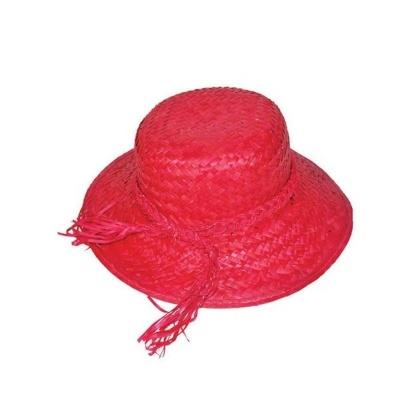 Dámský slamák - červený