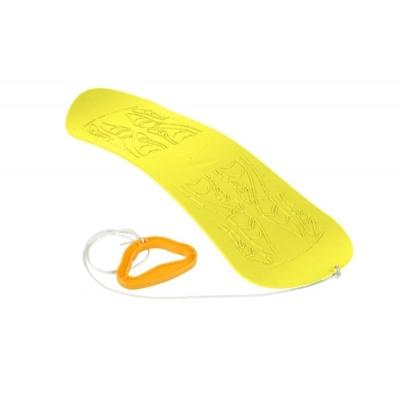 Dětský snowboard SKYBOARD - žlutá plastová kluzka