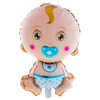 Foliový balónek Miminko chlapeček 68cm