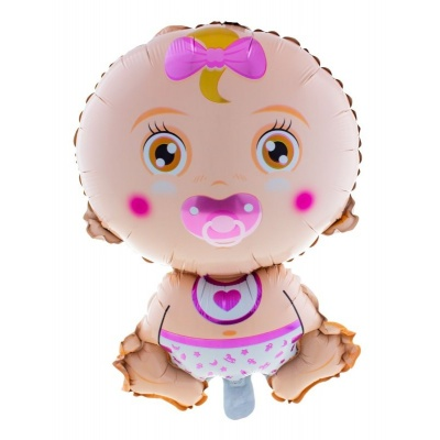 Foliový balónek Miminko holčička 68cm