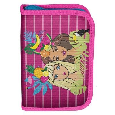 Školní pouzdro penál Barbie Tropical - s chlopněmi a vybavením