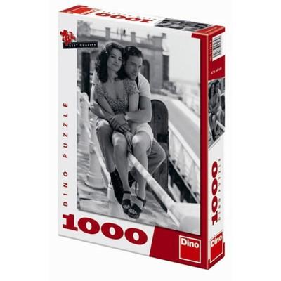 Puzzle DINO V objetí - 1000 dílků