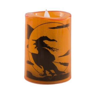Svíčka LED Halloween čarodějnice 11cm