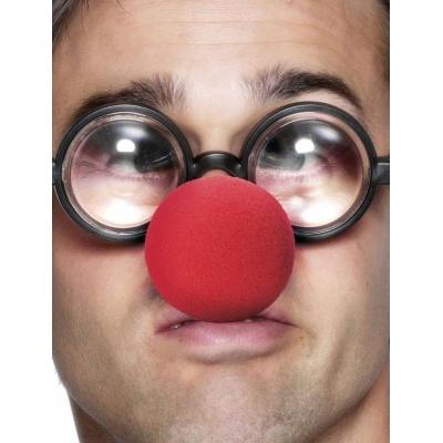 Klaunský nos a brýle