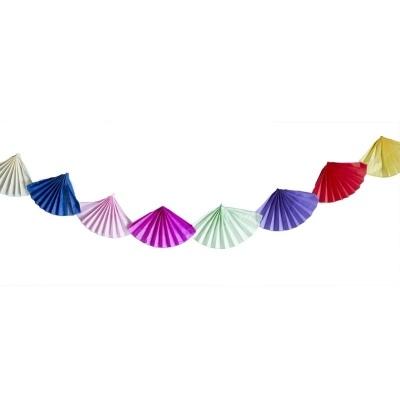 Girlanda barevné vějíře 6m