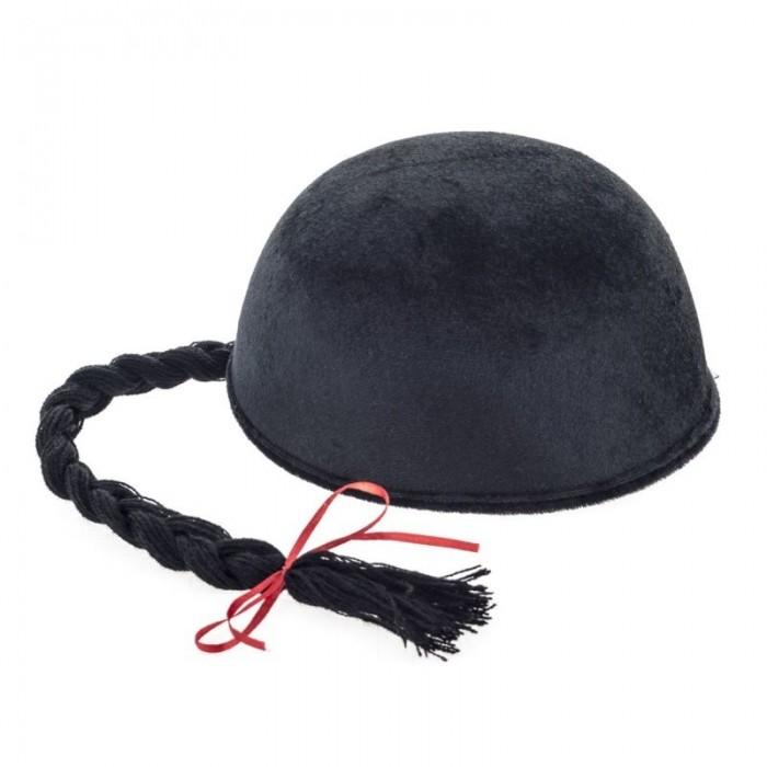 Čínská čepice s copánkem