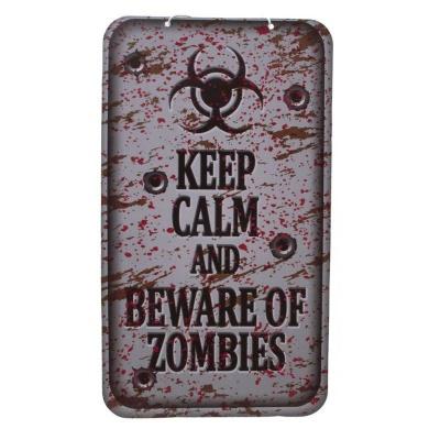 Horor dekorace cedule zombie 40x22cm