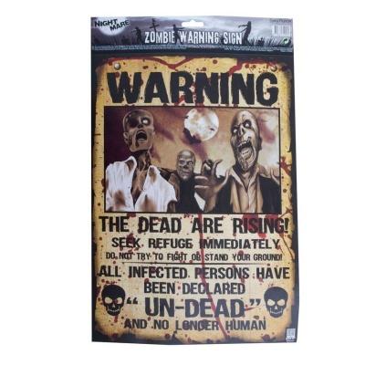 Horor dekorace plakát Zombie 38x28cm