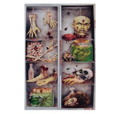 Horor dekorace na dveře Sklad zombie 157x78 cm