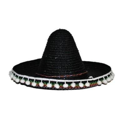 Mexické sombrero černé 50cm