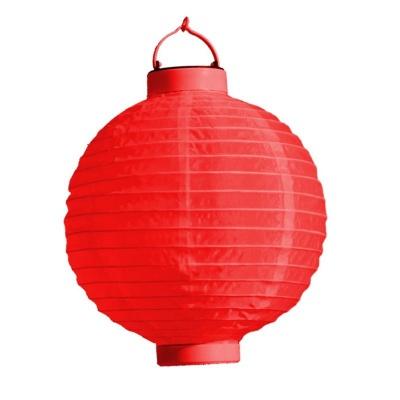 Lampion s LED diodou 20cm červený