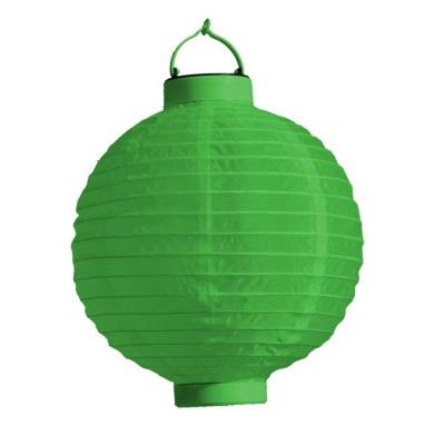 Lampion s LED diodou 20cm zelený