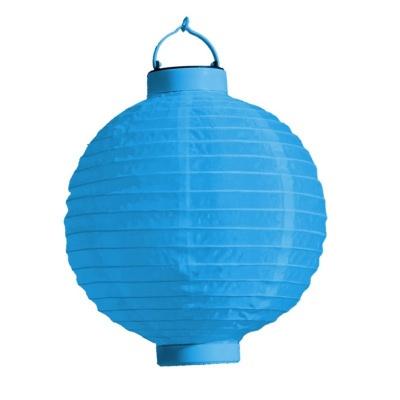 Lampion s LED diodou 20cm modrý