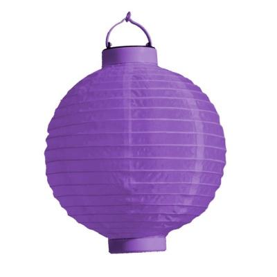 Lampion s LED diodou 20cm fialový