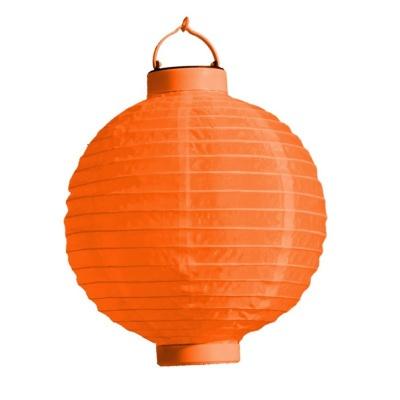 Lampion s LED diodou 20cm oranžový
