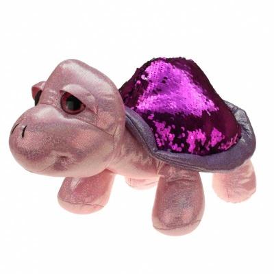 Želva s flitry fialová 30cm