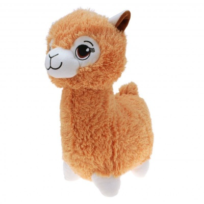 Plyšová Lama hnědá velká 35cm