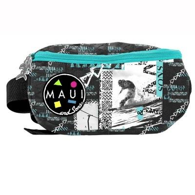 Ledvinka pouzdro na pas Maui and Sons zelenočerná