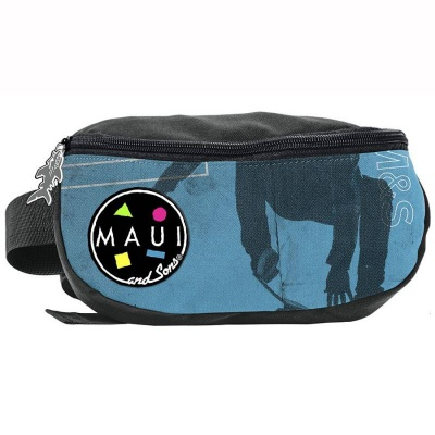Ledvinka pouzdro na pas Maui and Sons Skate modrá