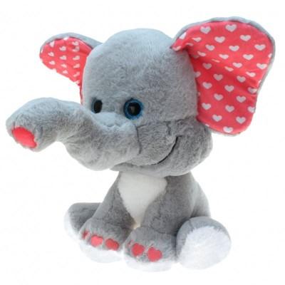Plyšový Slon se srdíčky velký 30cm