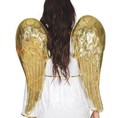 Andělská křídla zlatá - 70 x 64 cm