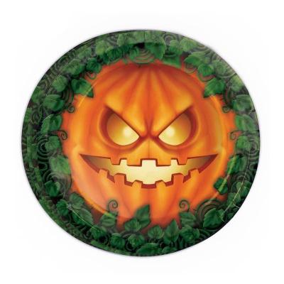 Papírové talíře Halloween dýně 8ks