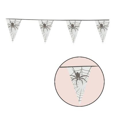 Vlajková girlanda Pavouci 6 m