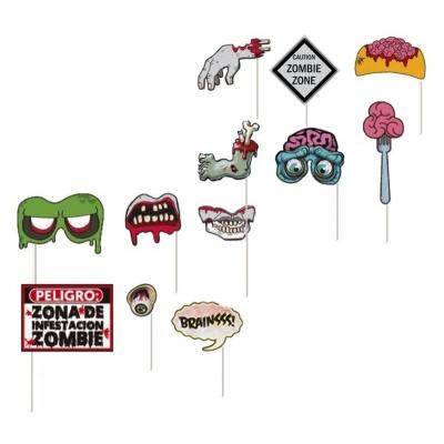 Doplňky do fotokoutku Halloween zombie