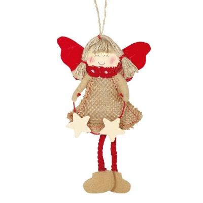 Vánoční ozdoba anděl s hvězdami15 cm