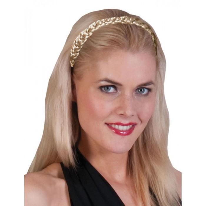 Čelenka spletené vlasy blond