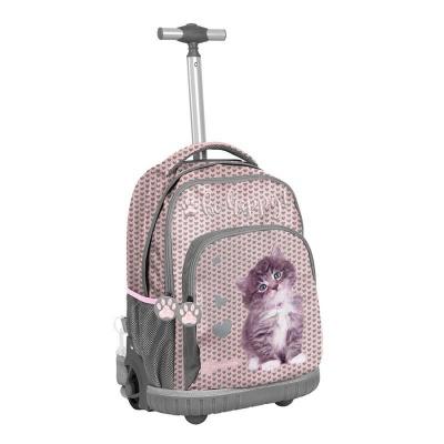 Cestovní batoh na kolečkách s vysouvací rukojetí Kočka