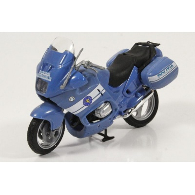Motorka BMW italská Policie Stradale Polizia model Mondo Motors 1:18