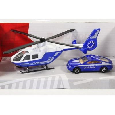 Vrtulník a auto Policie model Mondo Motors 1:64