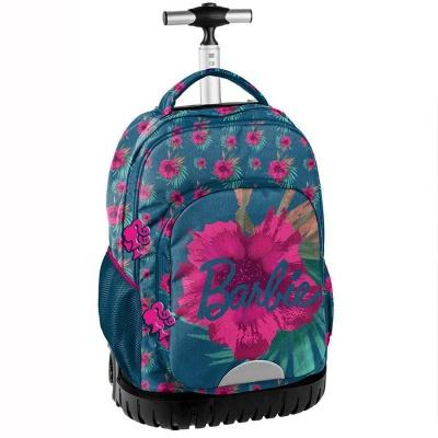 Cestovní batoh na kolečkách s vysouvací rukojetí Barbie Flowers