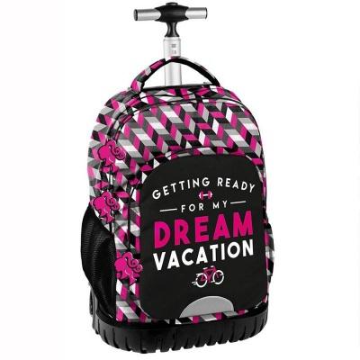 Cestovní batoh na kolečkách s vysouvací rukojetí Barbie Vacation