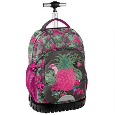 Cestovní batoh na kolečkách s vysouvací rukojetí Barbie Pineapple