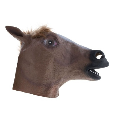 Gumová maska Kůň