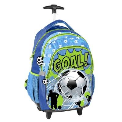 Cestovní batoh na kolečkách s vysouvací rukojetí Fotbal Goal