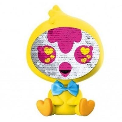 Flitrová panenka Zequins žlutá 16cm