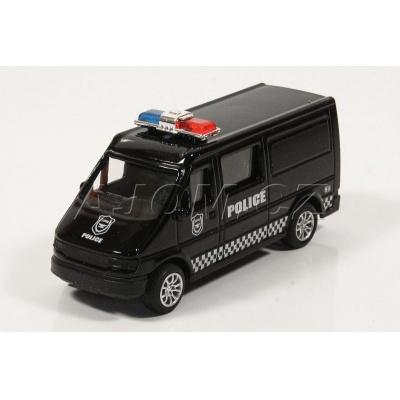 Kovová dodávka Policie černá