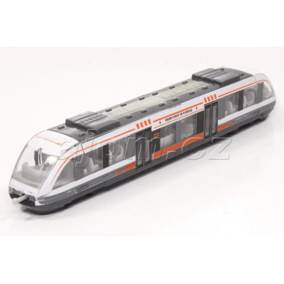 Kovový vláček tramvaj šedá