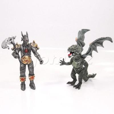 Figurka bojovník a zelený drak