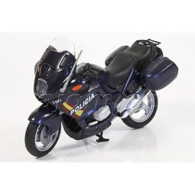 Motorka BMW španělská Policie Polizia modrá model Mondo Motors 1:18