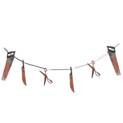 Girlanda krvavé nástroje 183cm