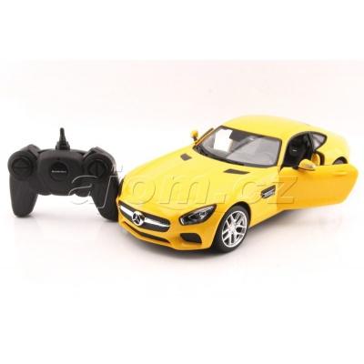 RC model Mercedes AMG GT žluté auto na dálkové ovládání 1:14