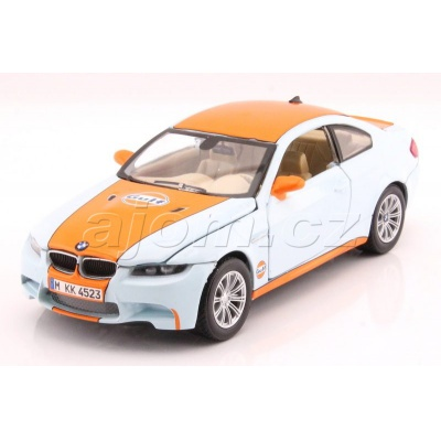 BMW M3 Coupe Gulf Series kovový model auta MotorMax 1:24