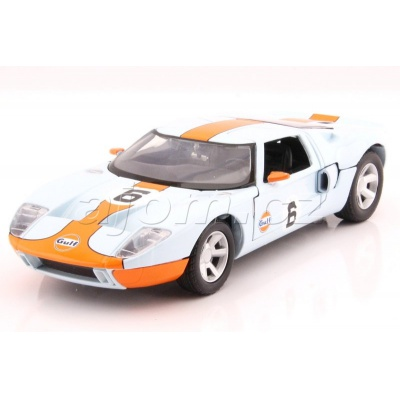 Ford GT Concept Gulf Series kovový model auta MotorMax 1:24